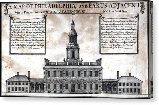 A Perspective View Of The State-house Canvas Print by Everett