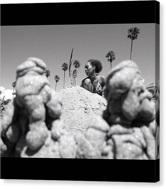 Sand Castles Canvas Print - A Picture Of My Sister @shanifiu by Aja Reed