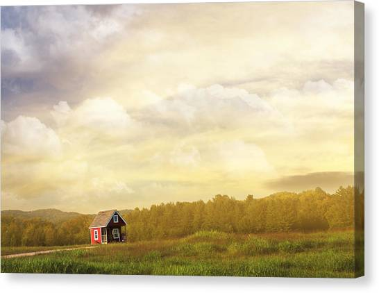 Country Kitchen Decor Canvas Print - A Place To Call Home by Amy Tyler