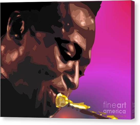 A Portrait Of Miles Canvas Print