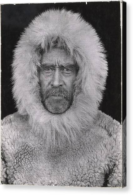 Northwest Territories Canvas Print - A Portrait Of Robert E. Peary by Robert E Peary