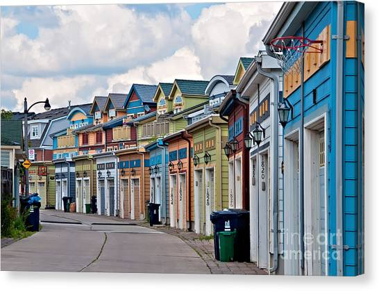 A Pretty Street In The Beach Canvas Print