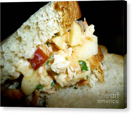 Mayonnaise Canvas Print - A Really Good Sandwich by Renee Trenholm