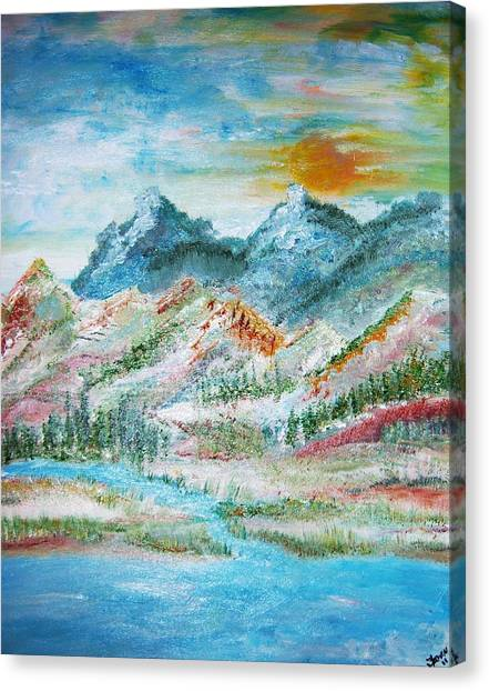 A River Runs Through  Canvas Print by Fawn Whelahan