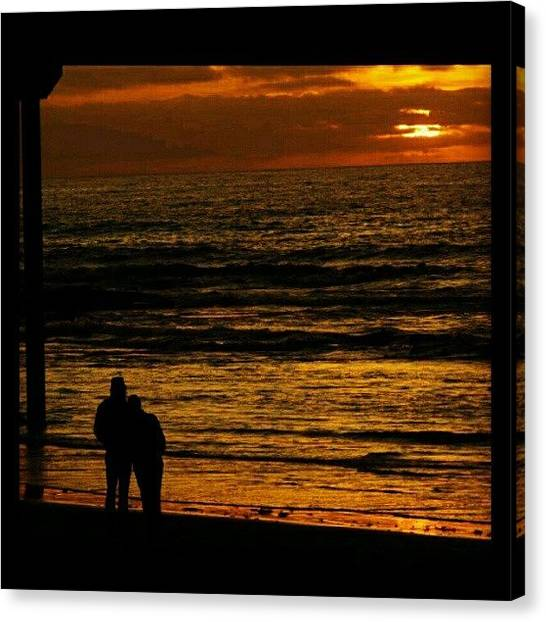 Ocean Sunsets Canvas Print - A #sandiegocalifornia #sunset by Mary Carter