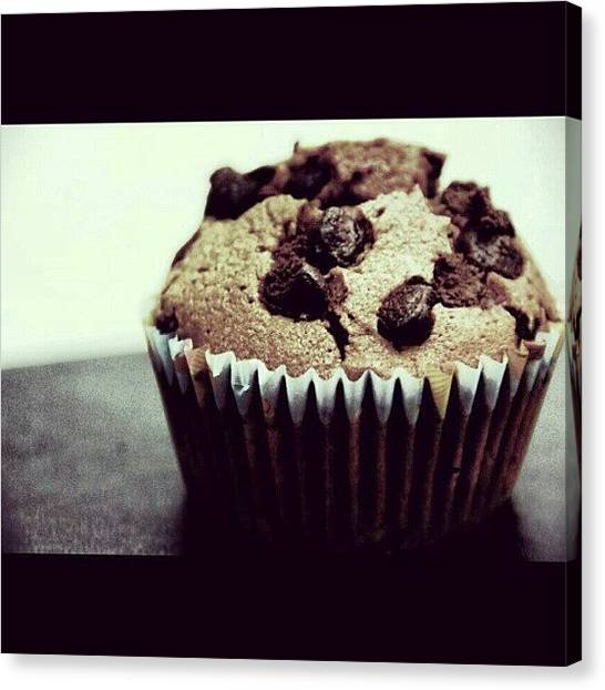 Bakeries Canvas Print - A Satisfactory. #muffin #chocolate by Aklili Zack