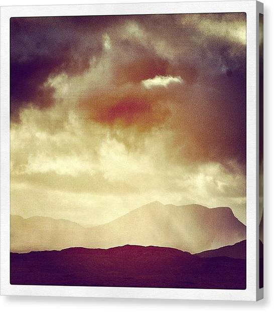 Rainclouds Canvas Print - A Scottish Summer #scotland #highlands by Robert Campbell