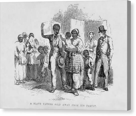 A Slave Father Sold Away Canvas Print by Everett