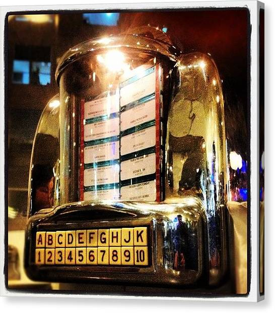 Jukebox Canvas Print - A Soda Rock Jukebox by Michael Rivero