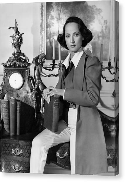 1945 Movies Canvas Print - A Song To Remember, Merle Oberon, 1945 by Everett