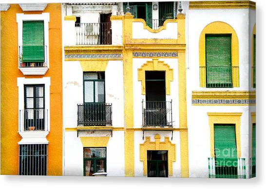 A Spanish Facade Canvas Print by Perry Van Munster