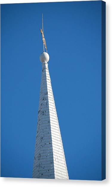 A Spire In New England Canvas Print by Dickon Thompson