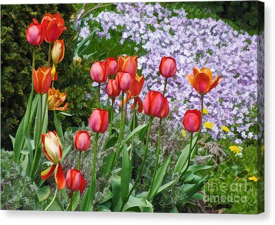 A Spring Feast Of Colours Canvas Print