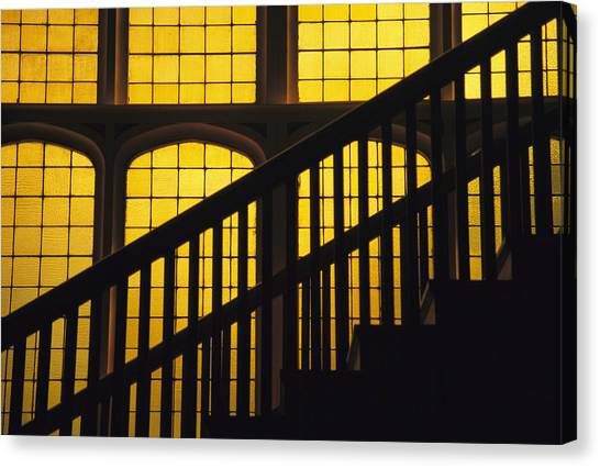 Colorado State University Canvas Print - A Staircase In Silhouette by David Evans