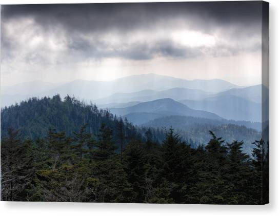 A Storm Over The Smokys Canvas Print by Pixel Perfect by Michael Moore