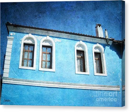 A Story In Blue Canvas Print
