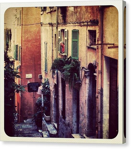 France Canvas Print - A Street In Villefranche (france) by Natasha Marco