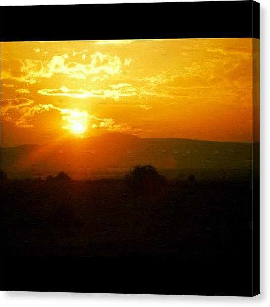 Kenyan Canvas Print - A #sunrise (or Maybe #sunset, I Cant by Joanna Dowdell