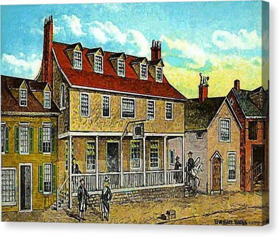 A Tavern In Philadelphia Pa Canvas Print by Dwight Goss