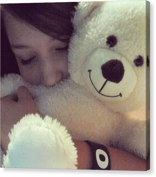 Teddy Bears Canvas Print - A Teddybear Wont Spill My Secrets But by Kylie Christena