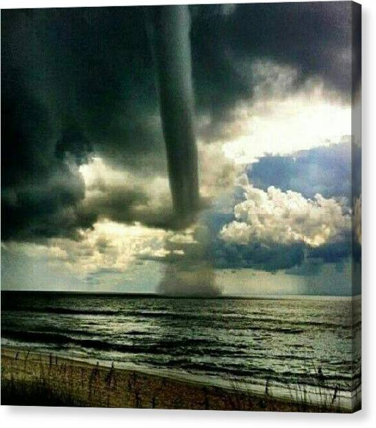 Tornadoes Canvas Print - A Twisting Spout Of Thrill by Sarah Booth