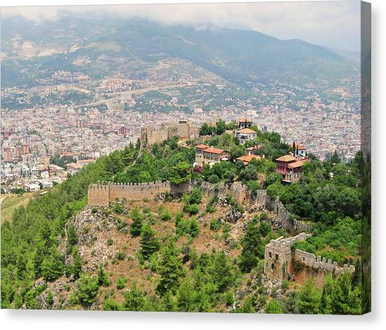 Suleymaniye Canvas Print - A View From Alanya Castle by Gulale