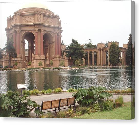 A View Of Palace Of Fine Arts Theatre San Francisco No One Canvas Print