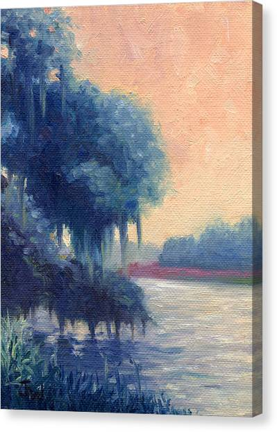 A View Of The Ashley River Canvas Print by Joe Winkler