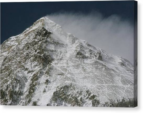 Mount Everest Canvas Print - A View Of The Rocky Top by Barry Bishop