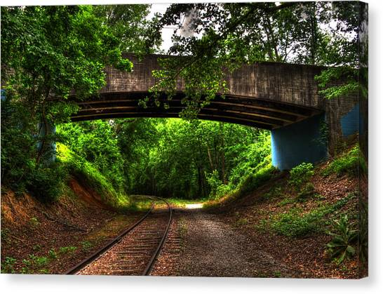 A Walk Along The Tracks Canvas Print