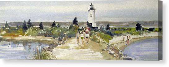 A Walk To Edgartown Light Canvas Print