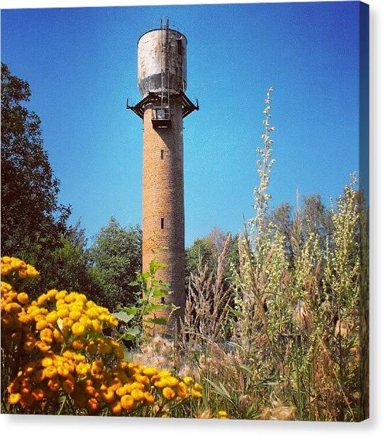 Russian Canvas Print - A #watertower From A Small Town Of by Alexandra Cook