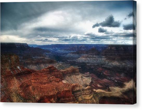 A Winter Scene From The South Rim Of Grand Canyon National Park.  Canvas Print by C Thomas Willard