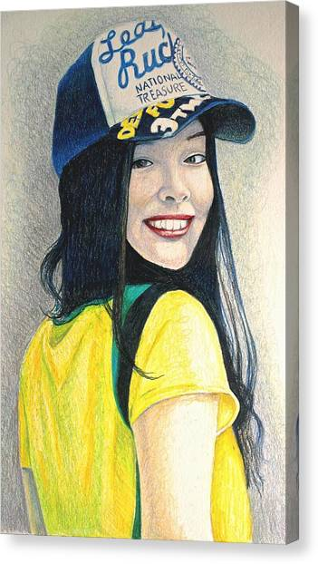 A Young Girl With A Cap Canvas Print