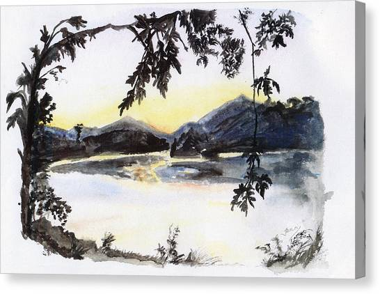 Aare Am Abend Canvas Print by Jana Goode