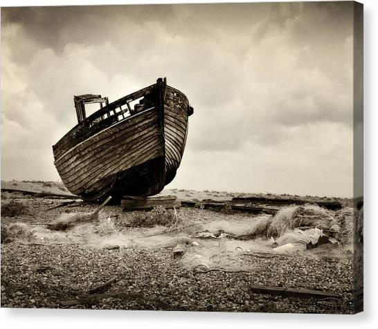 Abandoned At Dungeness Canvas Print by David Turner