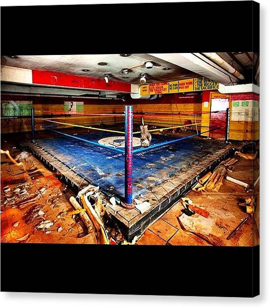 Fighting Canvas Print - Abandoned Champion #boxing #urbex by Anthony  Bates