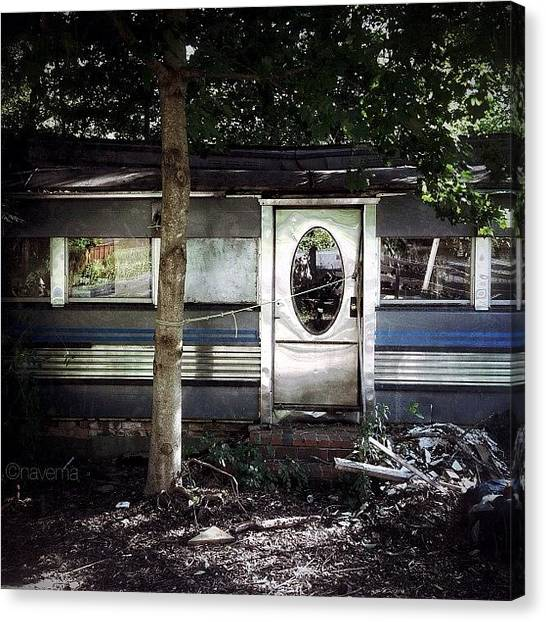 Restaurant Canvas Print - Abandoned Diner by Natasha Marco