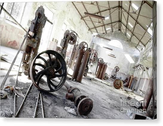 Junk Canvas Print - Abandoned Factory by Carlos Caetano