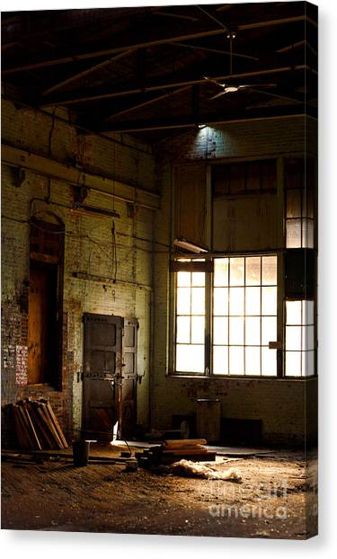 Warehouses Canvas Print - Abandoned Factory by HD Connelly