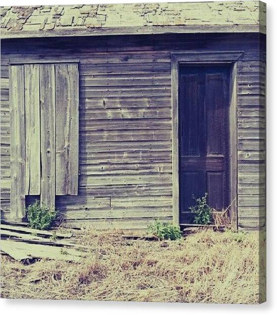 Saskatchewan Canvas Print - #abandoned #farm #house. #rural #decay by Michael Squier