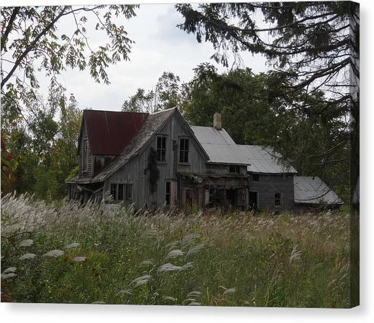 Abandoned Farmhouse 1 Canvas Print by Bruce Ritchie