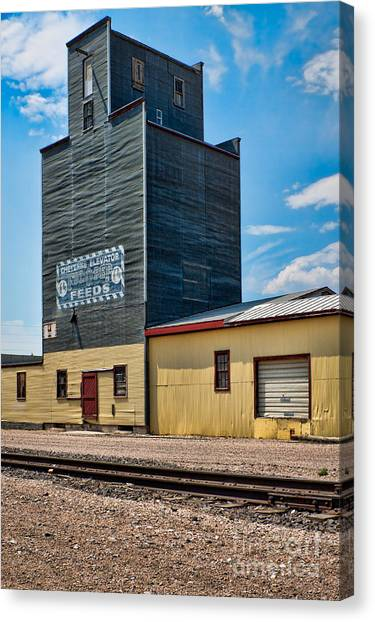Abandoned Feed Elevator Canvas Print by Lawrence Burry