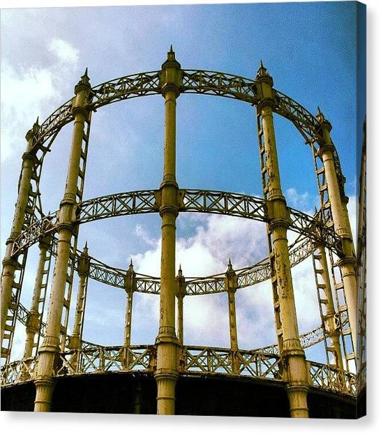 Factories Canvas Print - Abandoned Gas Works #abandoned #factory by Invisible Man