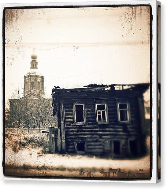 Old Age Canvas Print - Abandoned by Grigorii Arzhanykh