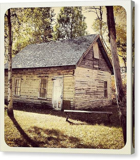Manitoba Canvas Print - Abandoned #homestead #birdshillpark by Lucy Siciliano