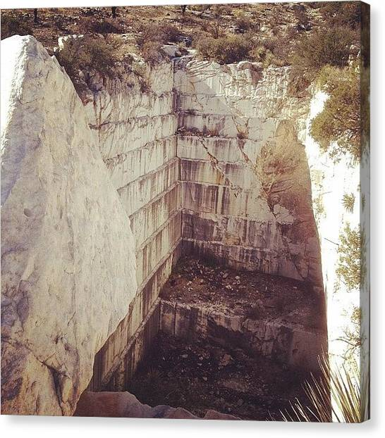 Geology Canvas Print - Abandoned Marble Quarry #chiricahuas by CactusPete AZ
