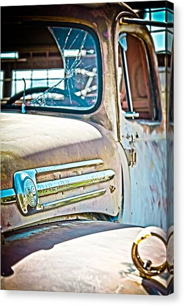 Abandoned Red Truck Canvas Print