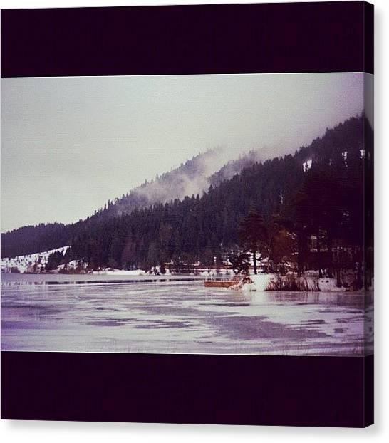 Turkish Canvas Print - #abant #turkey #lake #winter #snow by Ozan Goren