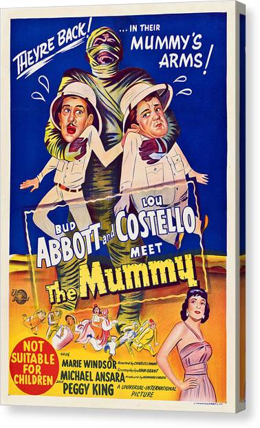Abbott And Costello Meet The Mummy Canvas Print by Everett